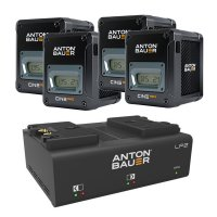 Anton Bauer Cine 150 V Mount Battery Four Pack
