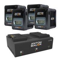 Anton Bauer Cine 150 V Mount Battery Four Pack